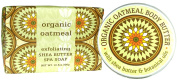Greenwich Bay ORGANIC OATMEAL Bundle of BODY BUTTER 240ml and LARGE BLOCK Spa Soap 310ml with Shea Butter and Cocoa Butter