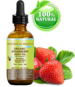 "STRAWBERRY SEED OIL ORGANIC. 100% Pure Moisturiser/ Natural Cold Pressed Carrier oil. For Skin, Hair, Lip and Nail Care. ""One of the highest anti-oxidant oil, rich in Omega-3 and Linolenic Acid."" Botanical Beauty."