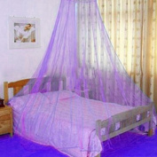Gemini_mall® Purple Lace Bed Canopy Mosquito Net Dome Fly Insect Net Protection