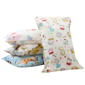 Biubee 4 pack Nursery Pillow Case (35.5x55cm) - Natural Cotton Pillow Cover for Baby and Toddler