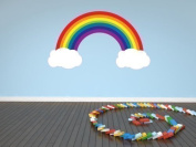 Full Colour Rainbow and Clouds Nursery Kids Bedroom Baby Room Wall Sticker Decal Mural