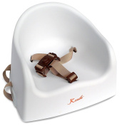 Baby Booster by EZ-Bugz, Toddler Seat With Straps So Your Child Can Sit & Eat Safely At The Dinner Table Without a High Chair. White, For Kids From 6 Months Up