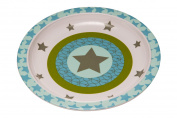 Lassig Kids BPA-free Melamine Plate with Silicone Non-Slip Bottom, Starlight Olive