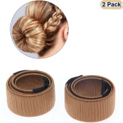 Hisight 2pcs Fashion Hair Styling Disc Hair Tool a wig barrette hair ring noble French Twist DIY