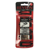 Revlon Essentials Rubberized Double Grip Hair Clips, 6 Count