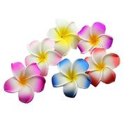 Calcifer® 30pcs 5cm Hawaii Hawaiian Plumeria Flower Clips Bridal Wedding Party Beach Hair Clips