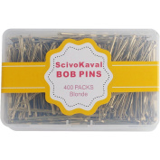 ScivoKaval Bobby Pins, Blonde, 400 Count, in a Case Tub