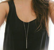 Leiothrix Fashion Alloy Golden Long Necklace for Women and Girls Apply to Weeding Party Casual