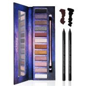 UCANBE Eye Shadow and Liner Definer Set –12 Shades Eyeshadow Palette And 2 Shades Kohl Gel Eyeliner Pencil
