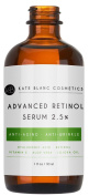 Retinol Serum 2.5% for Face & Acne (30ml) by Kate Blanc. Professional Anti-Ageing Topical Facial Serum, Anti-Wrinkle & Reduce Fine Lines, Clinical Strength Ingredients w Vitamin E, Hyaluronic Acid