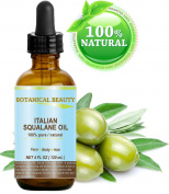 Botanical Beauty Natural Italian Squalane Moisturiser Oil for Face, Body and Hair, 4 fl.oz