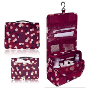 Portable Waterproof Travel Cosmetic Bag - Lady Colour Portable Travel Makeup Kit Organiser Bathroom Storage Cosmetic Bag Carry Case Toiletry Bag with Hanging Hook