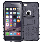 Case for iPhone 6S , Armour Heavy Duty Protection Rugged Dual Layer Hybrid Shockproof Case Protective Cover for Apple iPhone 6 6S 12cm with Built-in Kickstand