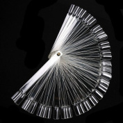Shari Clear Acrylic Nail Art Tip Sticks Display Practise Fan Colour Card DIY Decoration