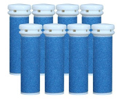 Replacement Refill Rollers for Emjoi Micro-pedi (Extra Coarse) - Pack of 8