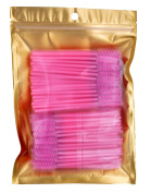 100PCS Lovely Pink Disposable Eyelash Mascara Wands Eyelash Extension Makeup Applicator Brushes