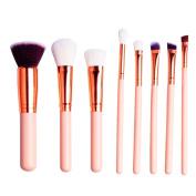 Kabuki Brush,8 Pcs Professional Foundation Make Up Brush Eyeshadow Makeup Brush Set Blusher Concealer Powder Kabuki Face Brushes Cosmetic Brushes Kit