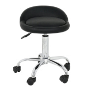 Rolling Swivel Stool w/Wheels Adjustable Tattoo Facial Massage Spa Salon Beauty Stools Chair with Back Support