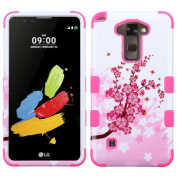 MyBat Cell Phone Case for LG K520 LS775 - Retail Packaging - Spring Flowers/Electric Pink