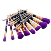 MixBeauty 2017 New 15Pcs Makeup Brush Set Professional Foundation Contour Concealer Blending Cosmetic Brushes Set