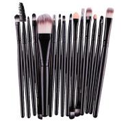 Tonsee 15 pcs/Sets Eye Shadow Foundation Eyebrow Lip Brush Makeup Brushes Tool