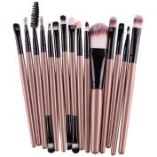 Toraway 15 pcs/Sets Eye Shadow Foundation Eyebrow Lip Brush Makeup Brushes Tool