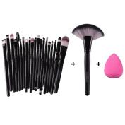 Kinghard 22pcs Makeup Brush Makeup Sponge Makeup Foundation Brush