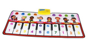 Durable and Foldable Piano Mat, 8 Selectable Sounds, Play and Record, For Kids 3+, Dance and Learn