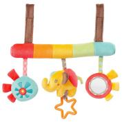 Daisy Infant Baby Plush Adorable Animal Rattle Stroller & Car Seat Hanging Toy Pram Crib Mobile Toy Gift with Bell,Squeak,Teether and Mirror for Boys and Girls