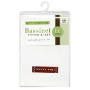 Bassinet Sheet Jersey Knit Bambino Basics (White) by BE Basic