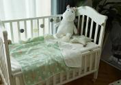 Baby 100% Cotton 4 Layer Muslin Blanket- Cute Fox (110cm x 110cm )