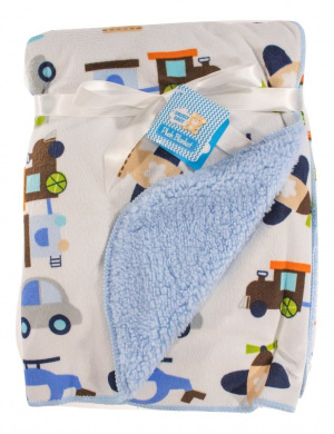 Snugly Baby Deluxe Sherpa Plush Blanket (Blue)