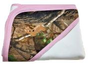 JLCK Realtree Camo with Baby Deer Pink Trim Baby Blanket 90cm x 70cm