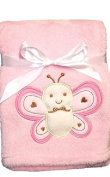 Snugly Baby Plush Blanket Pink ( Love Bug ) with Butterfly