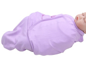 Happy Cherry Newborn Infant Baby Cotton Solid Purple Swaddle Baby Wrap Blanket, 0-5 Months