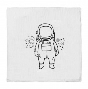 Oh, Susannah ASTRONAUT SWADDLE BLANKET Soft Muslin Organic Cotton and Bamboo Photo Prop