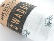 Organic Muslin Swaddle Blanket - Single - Baby Black Sheep - XLarge - Mammoth