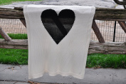 Baby Love - Cotton Baby Blanket by Pink Lemonade - 100% cotton/knitted- White and black