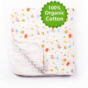 BabaMate Premium 6 Layer Organic Muslin Dream Blanket - Oversized 90cm x 90cm - Best Baby/Toddler Gift - Toddler Blanket