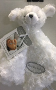 """Blankets & Beyond White Bear """"Bless this Baby"""" Security Blanket"""