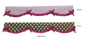 Bacati - Pink/Chocolate (Cordinates with Bacati Butterflies/Ladybugs Collection) Crib Rail Guard Cover