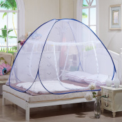 Tailbox Portable Mosquito Net - Sleep Screen Pop-Up Mosquito Net Bed Guard Tent Folding Attached Bottom with Zipper Anti-Mosquito Cloth for Babies Adult Travel Camping