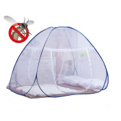 DmsBanga 2017 New Fashion Camping Mosquito Out Net for Bed Pop Up Nursery Guard Tent Folding Bottom Moustiquaire Canopy Zipper Baby Toddlers Kids Adult Travel Outdoor