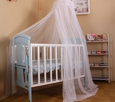 LovesTown Baby Mosquito Net Dome Ground Palace Type to Open The Door,White