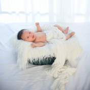 NUOLUX Baby Newborn Fur Photography Photo Props Blanket Rug Beanbag Background Backdrops