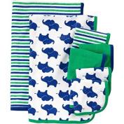 Newborn Baby Boy Washcloth And Towel Set