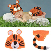 Newborn Baby Photography Prop Handmade Crochet Knitted Cute Tiger Outfits