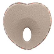LQZ Baby Sleeping Pillow for Newborn & Infant.Soft Memory Foam White Heart Shape.Baby Car Seat Protect Prevent and Correct Baby Head.