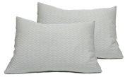 """2 Toddler Pillowcases in GOTS-Certified Organic Cotton to Fit 13"""" x 18"""" Pillow, Geo Leaf Print"""