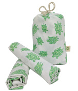 "2 Toddler Pillowcases in GOTS-Certified Organic Cotton to Fit 13"" x 18"" Pillow, Turtle Print"